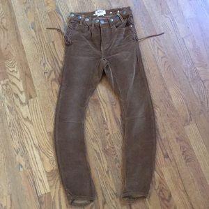 Cord skinny pants